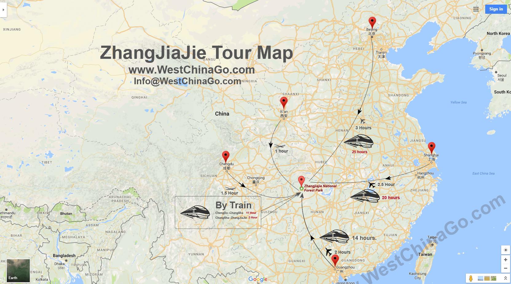 zhangjiajie transportation
