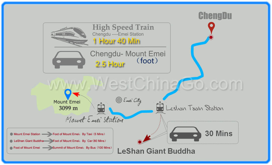 how to get to mount emei from chengdu