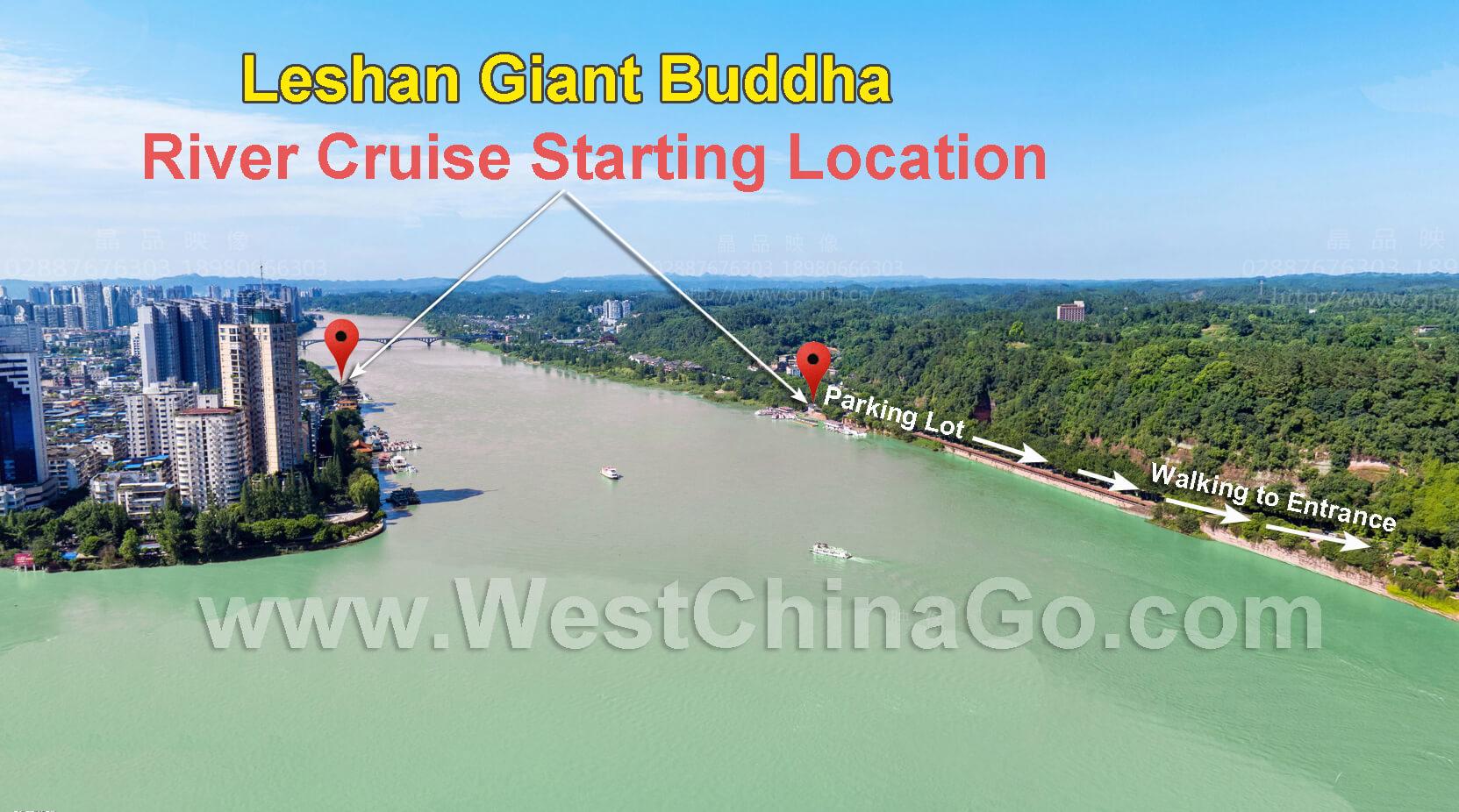 leshan giant buddha tour map