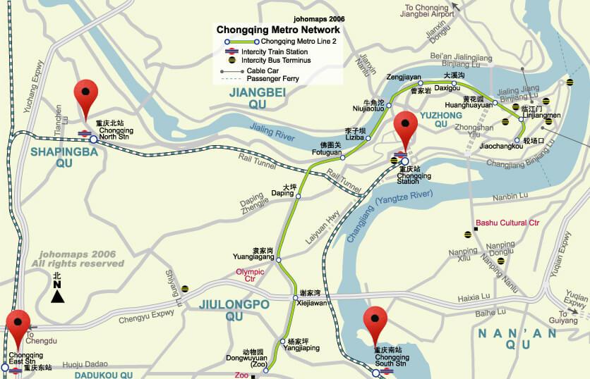 chongqing train station map