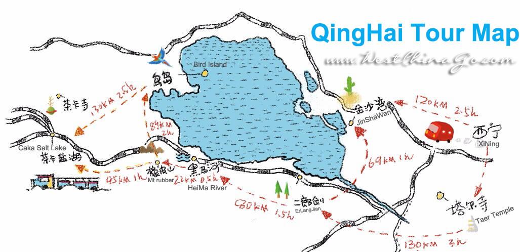 qinghai tour map