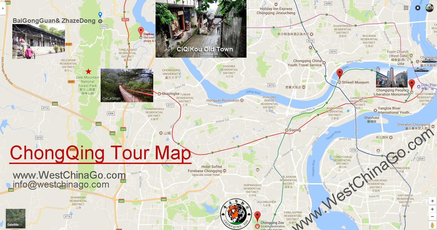 chongqing tourist map