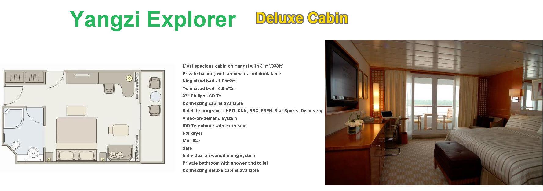 Yangzi Explorer deluxe suite-Yangtze River Cruise