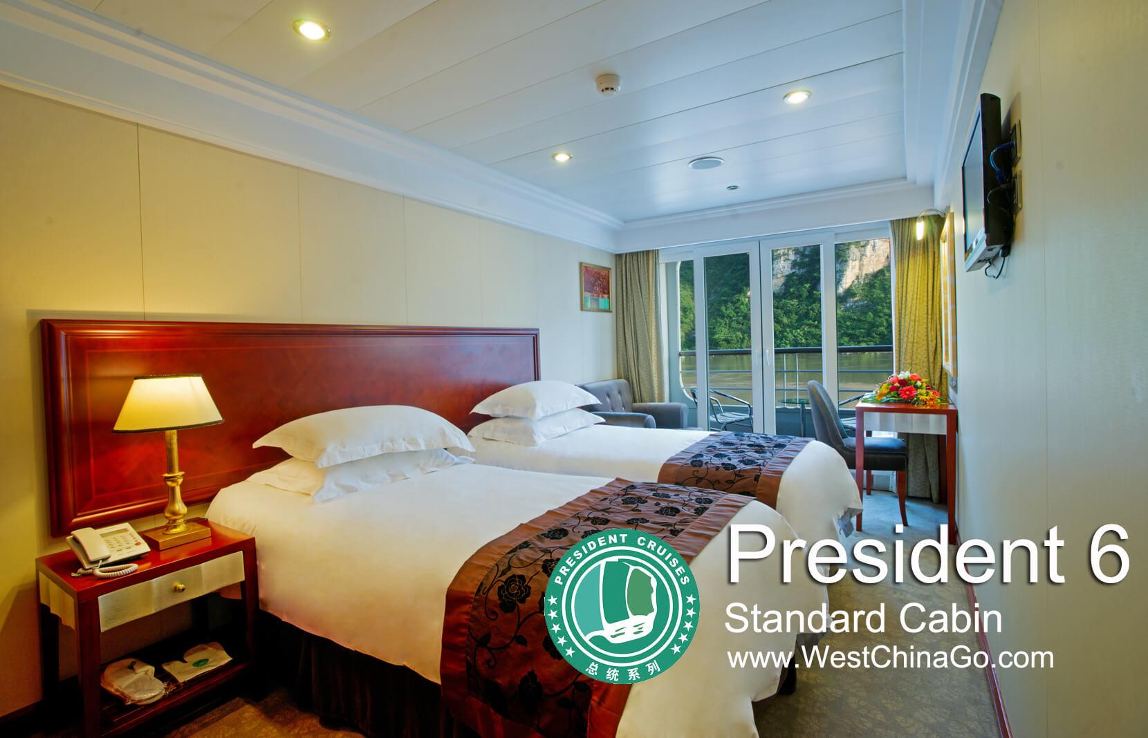 Yangtze River Cruise President 6 standard cabin
