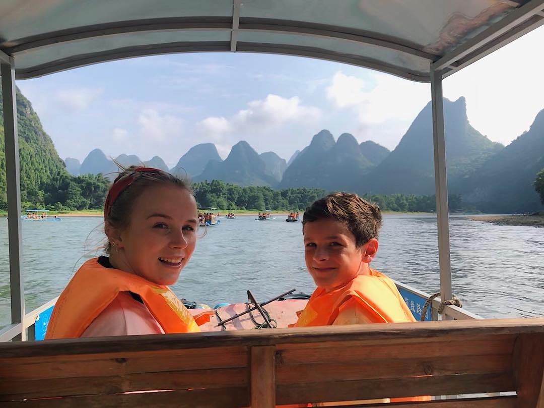guilin li river raft