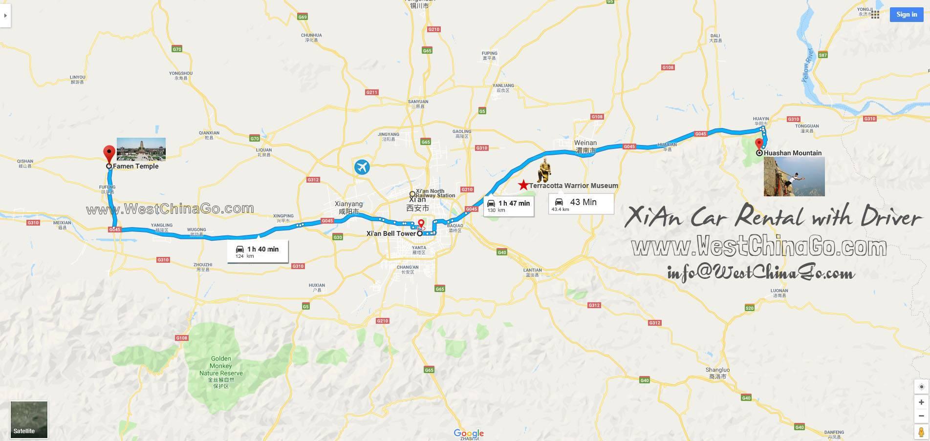XiAn Terracotta Warriors car rental with driver