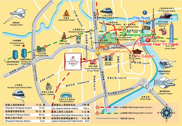 ShangHai TourTravel Guide – Shanghai Tourist Attractions Map