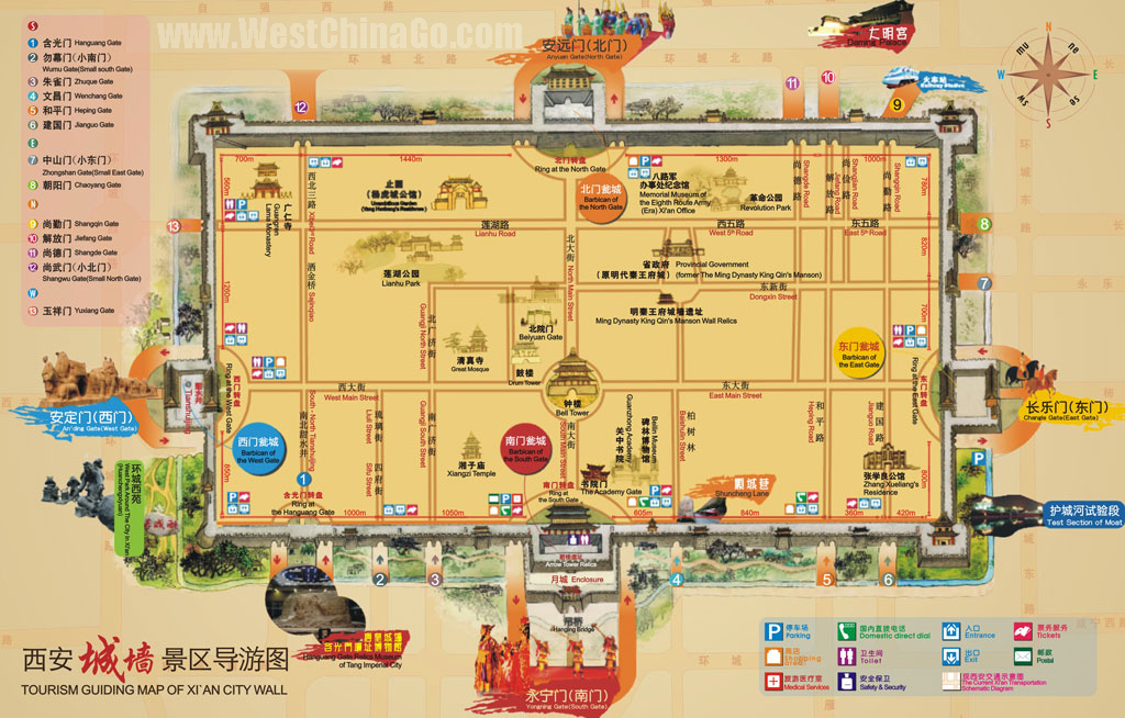 XiAn tour travel guide – Xian Tourist Map