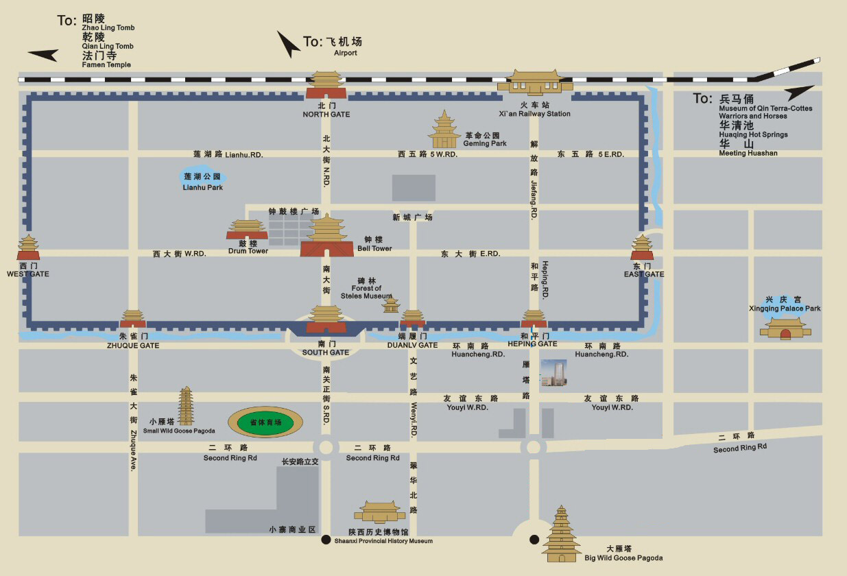 xi'an tourism map