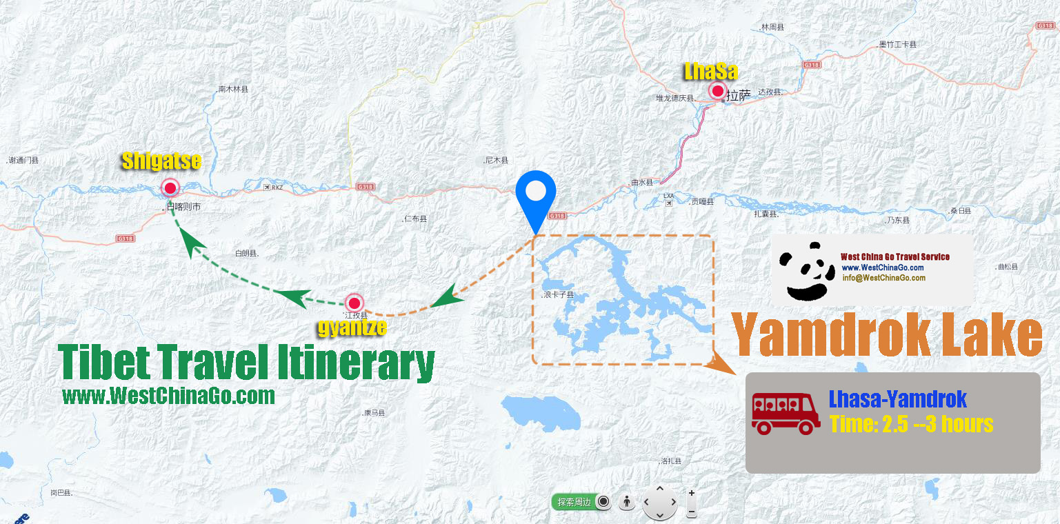 tibet tourist attractions map