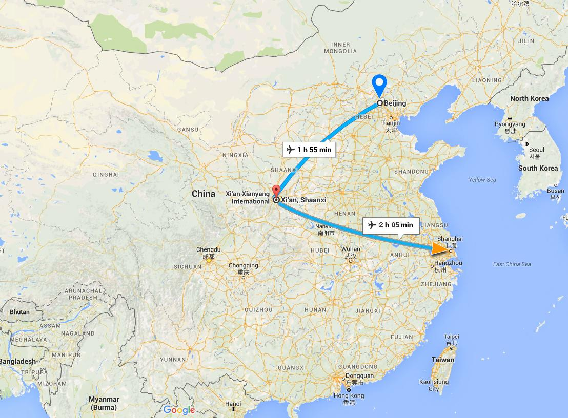 beijing tour map