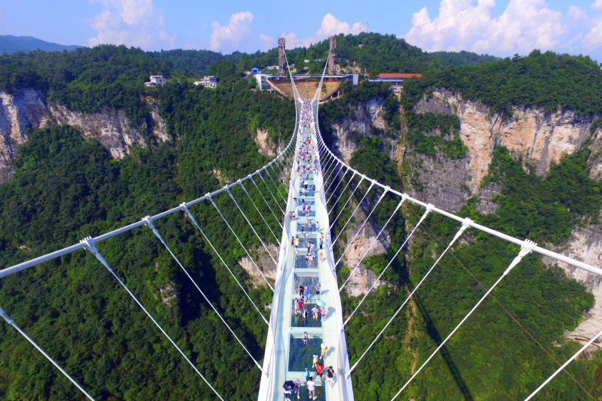 ZhangJiaJie world's highest and longest glass bridge