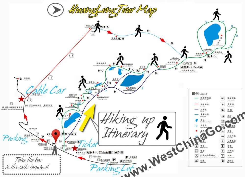 huanglong tourist map