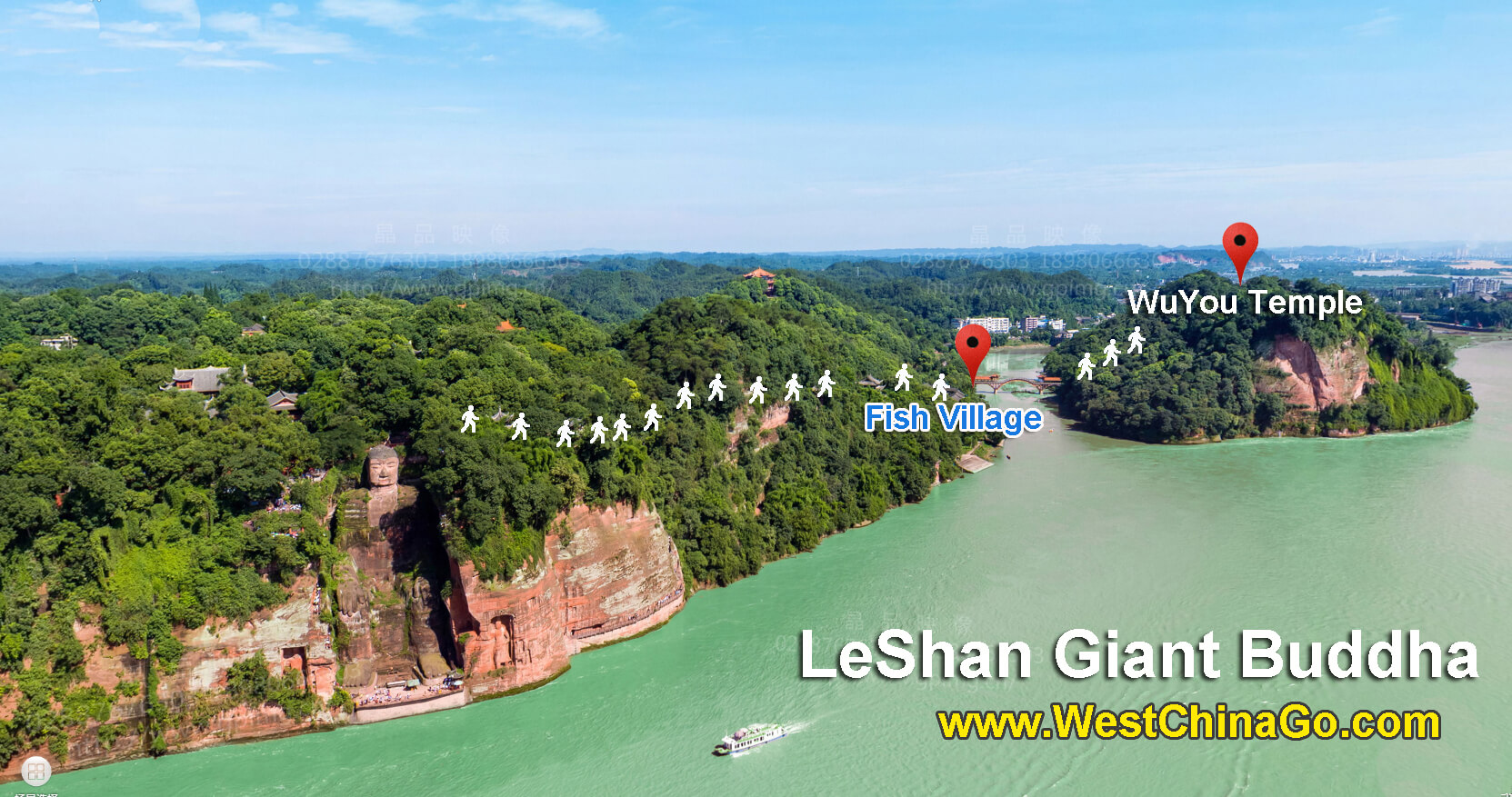 leshan giant buddha tour map