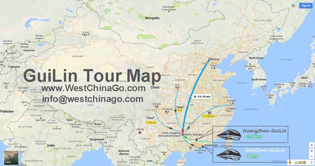 How To Get To GuiLin China