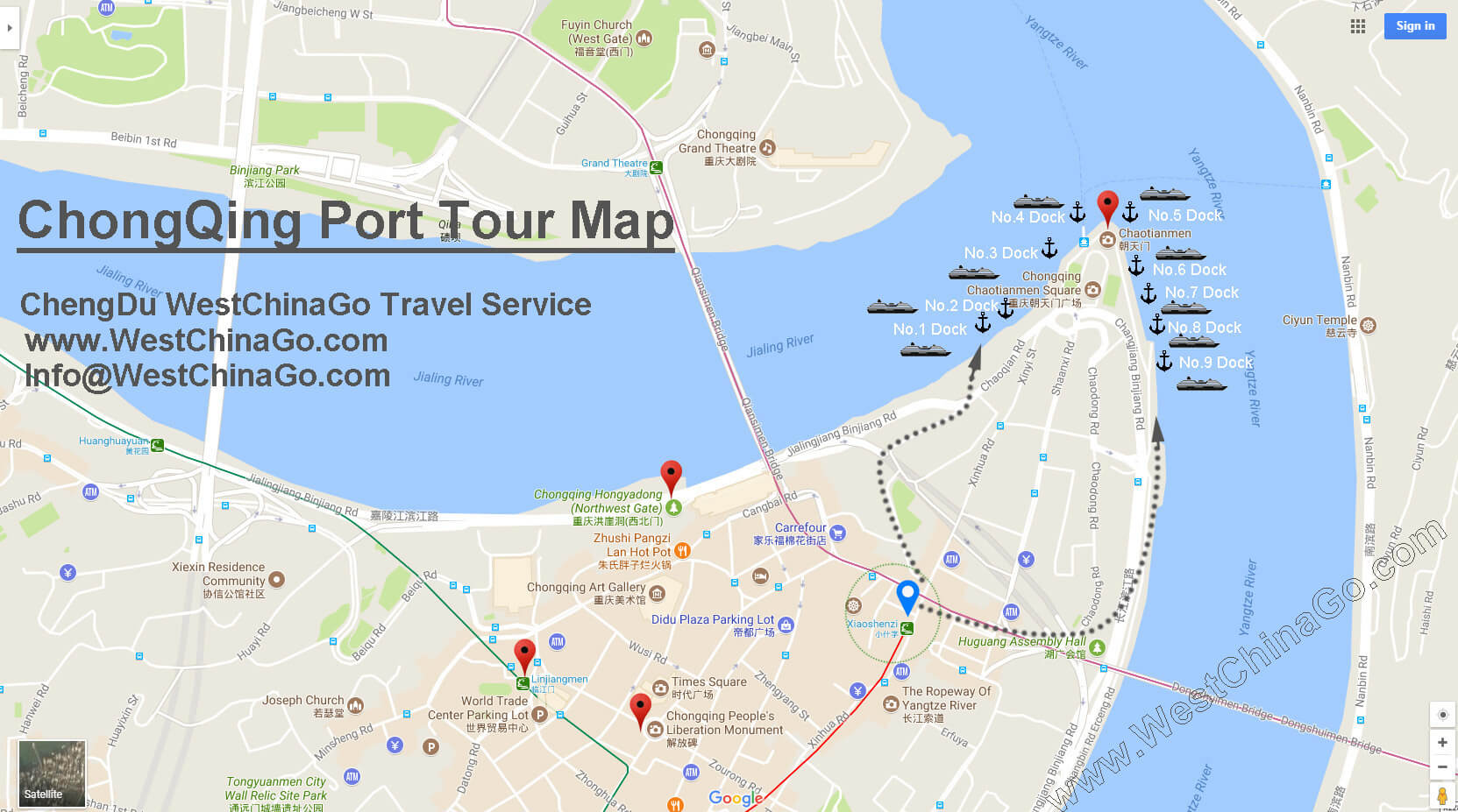 chongqing port tour map