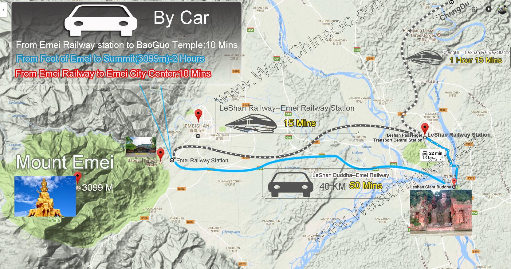 chengdu leshan map
