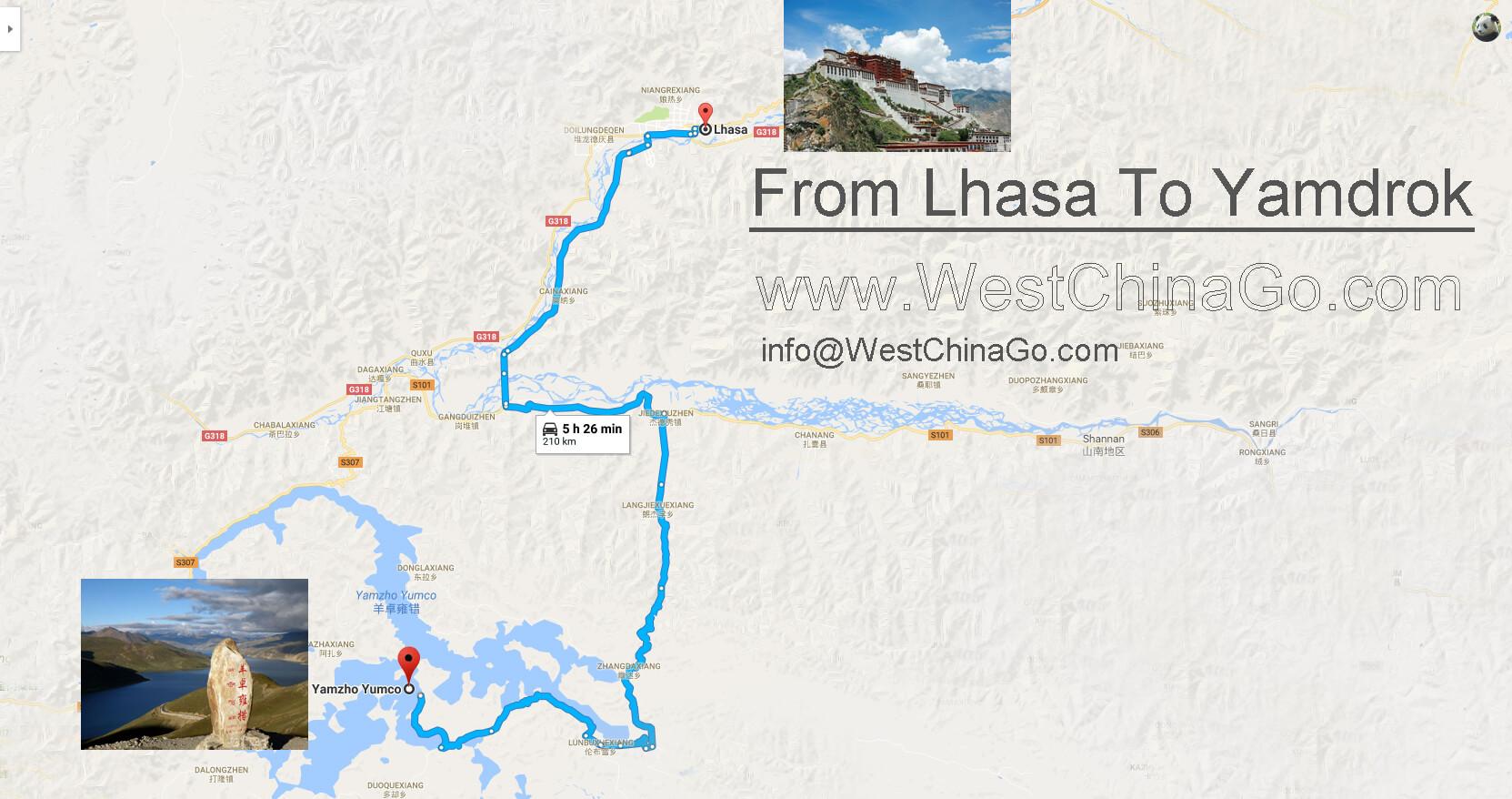 tibet tourist map