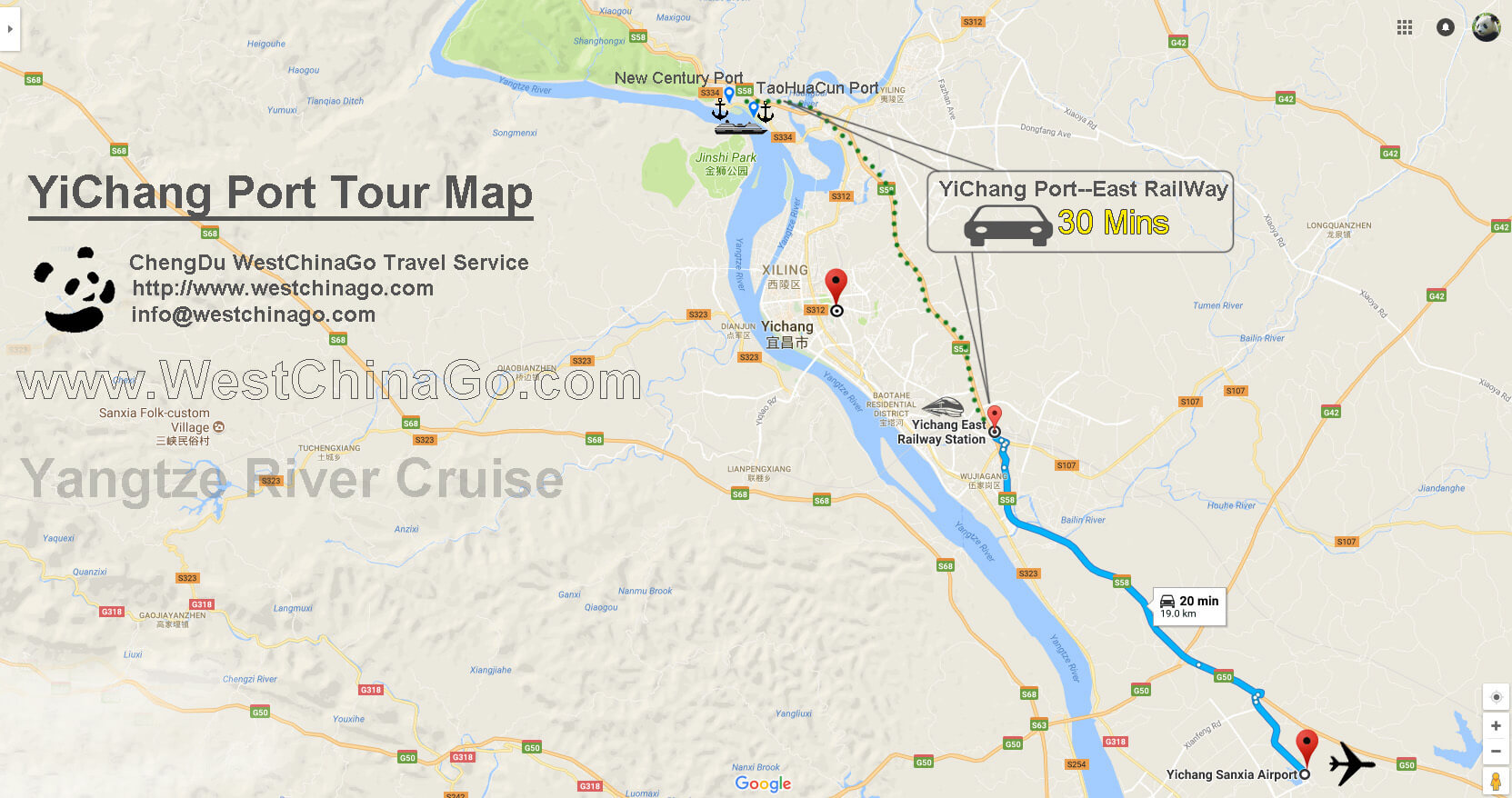 yichang port tour map