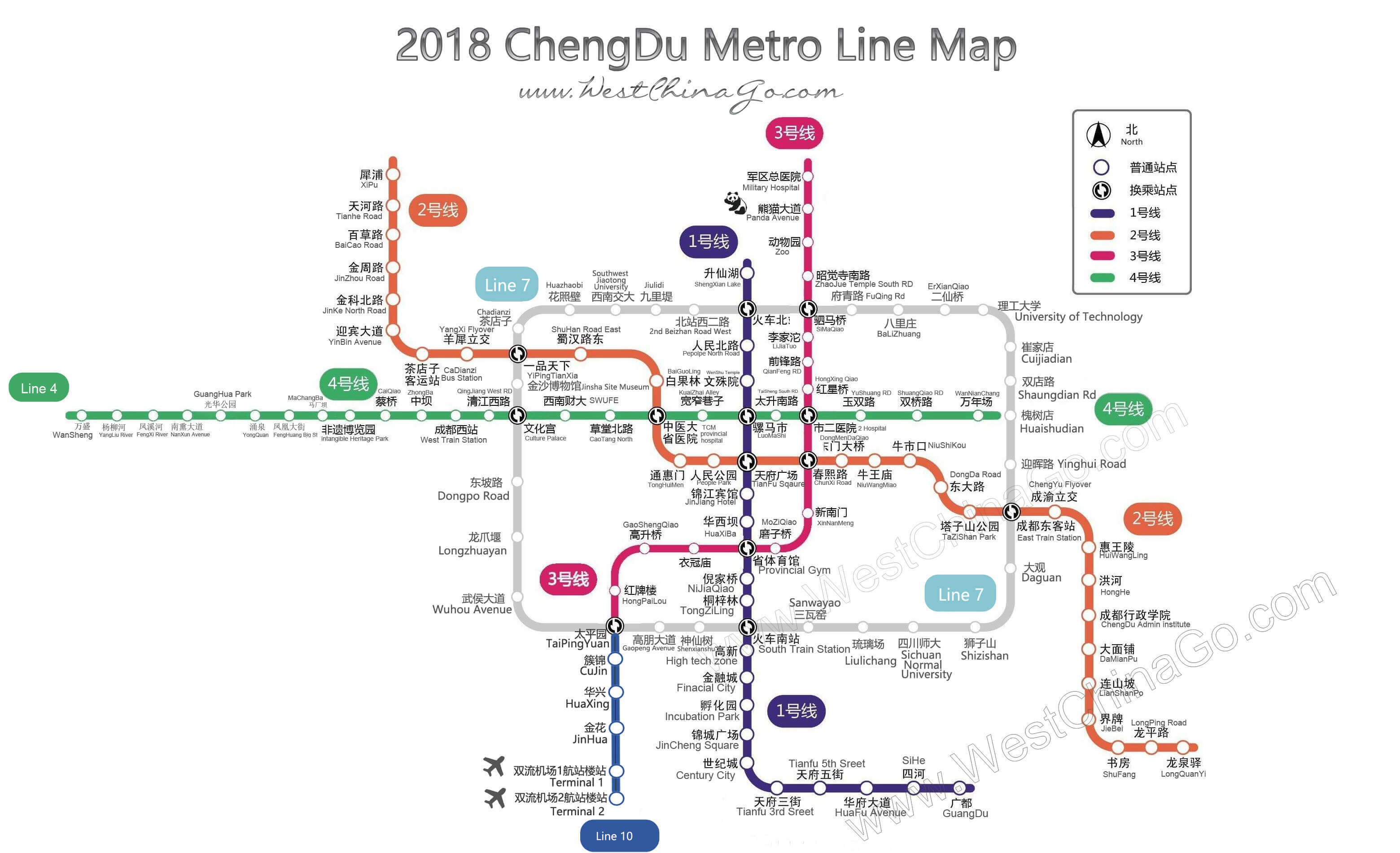 2018 chengdu metro (subway) line map english