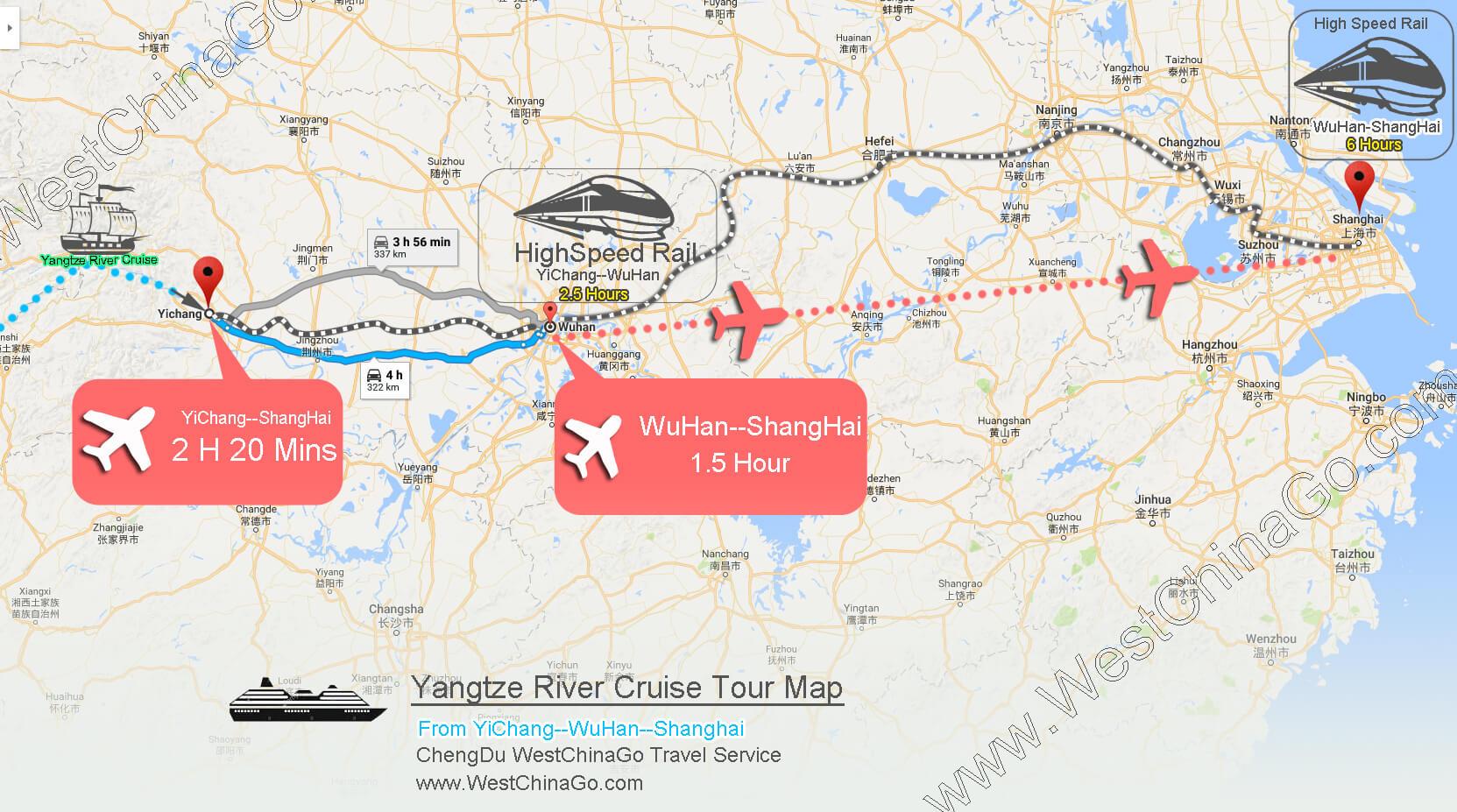 yangtze river cruise--yichang to shanghai,wuhan