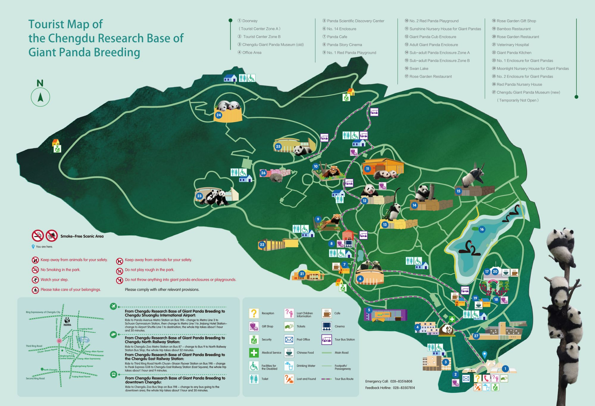 chengdu panda base tourist map