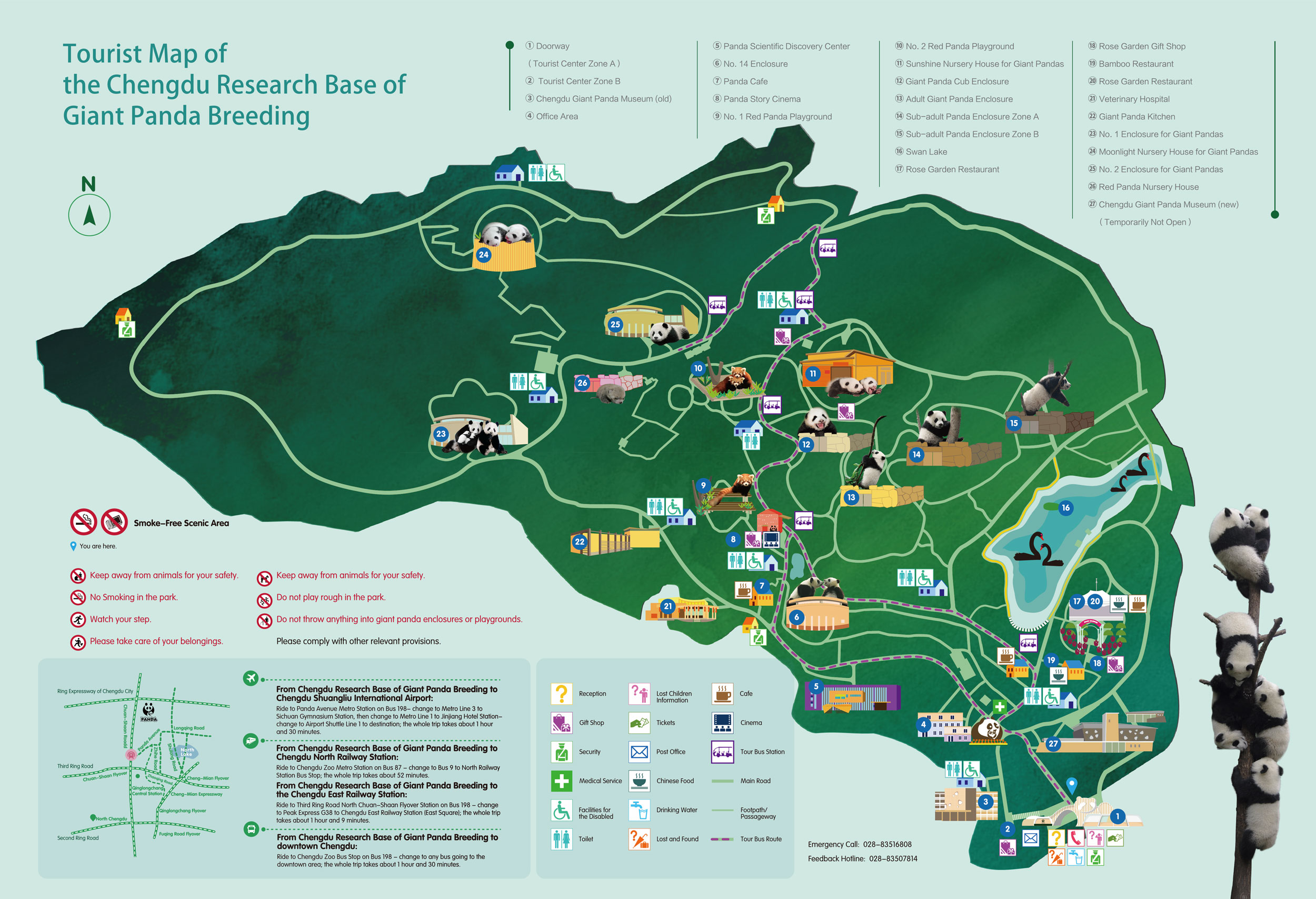 chengdu panda base tour map