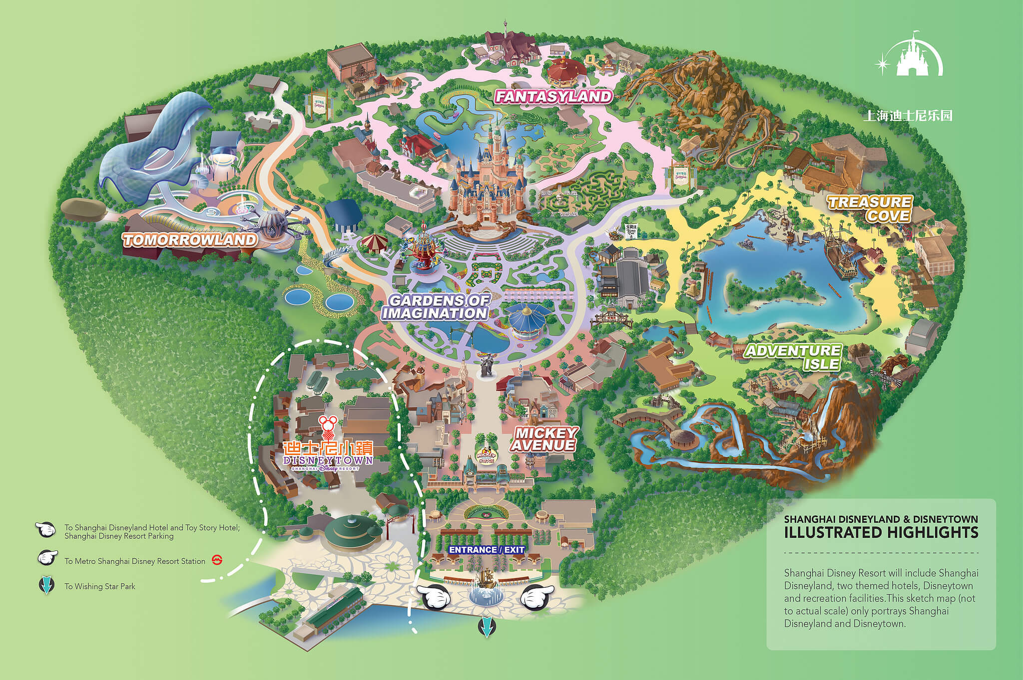 Shanghai Disney Resort tourist map