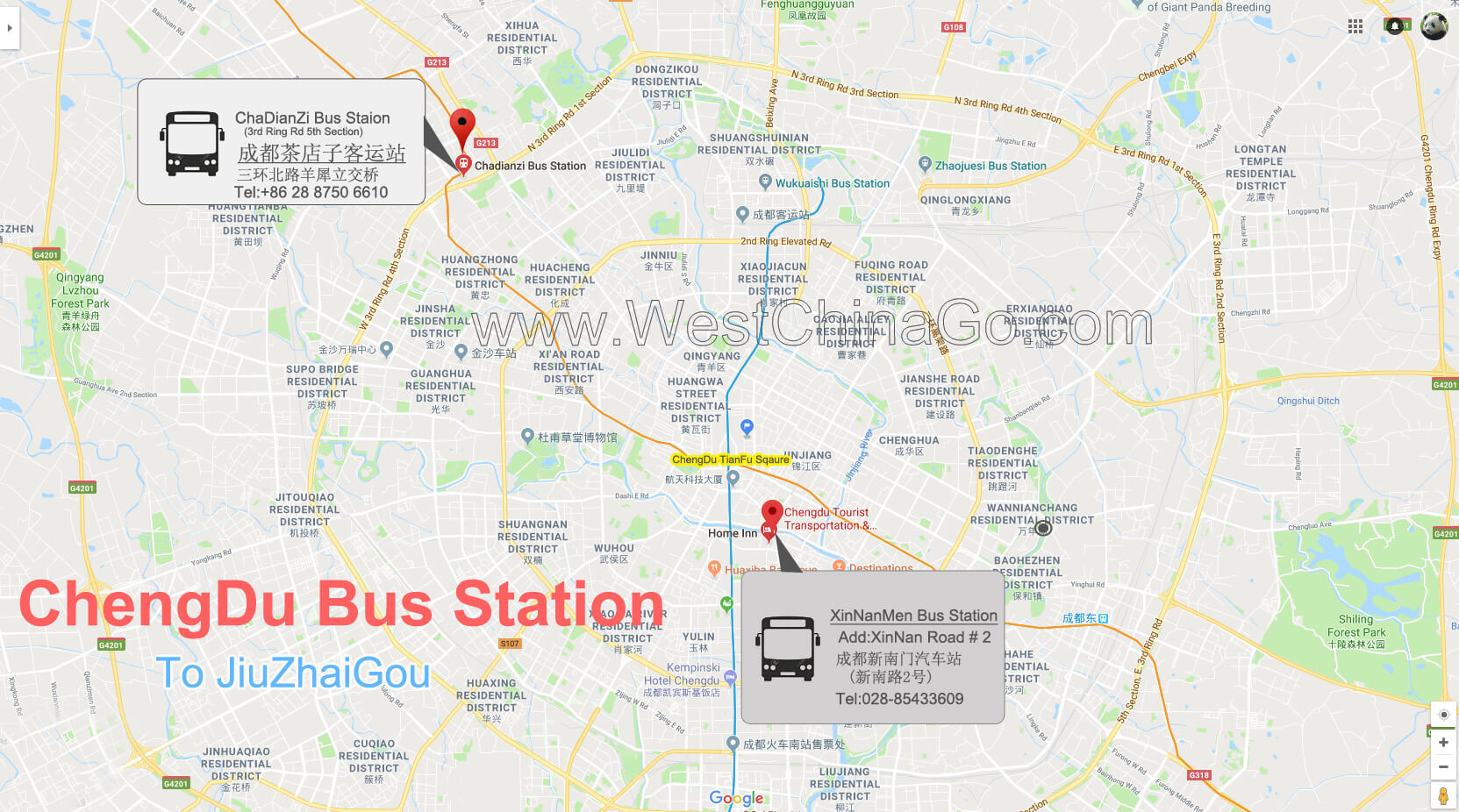 chengdu bus station map