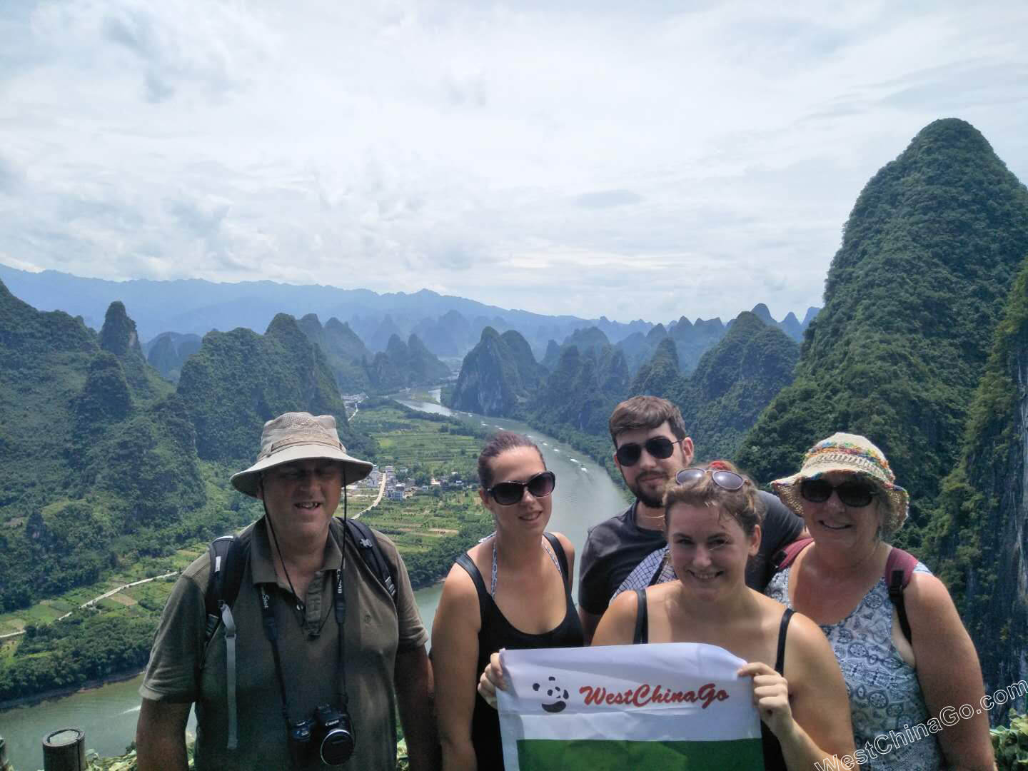 guilin tour:xianggong hill