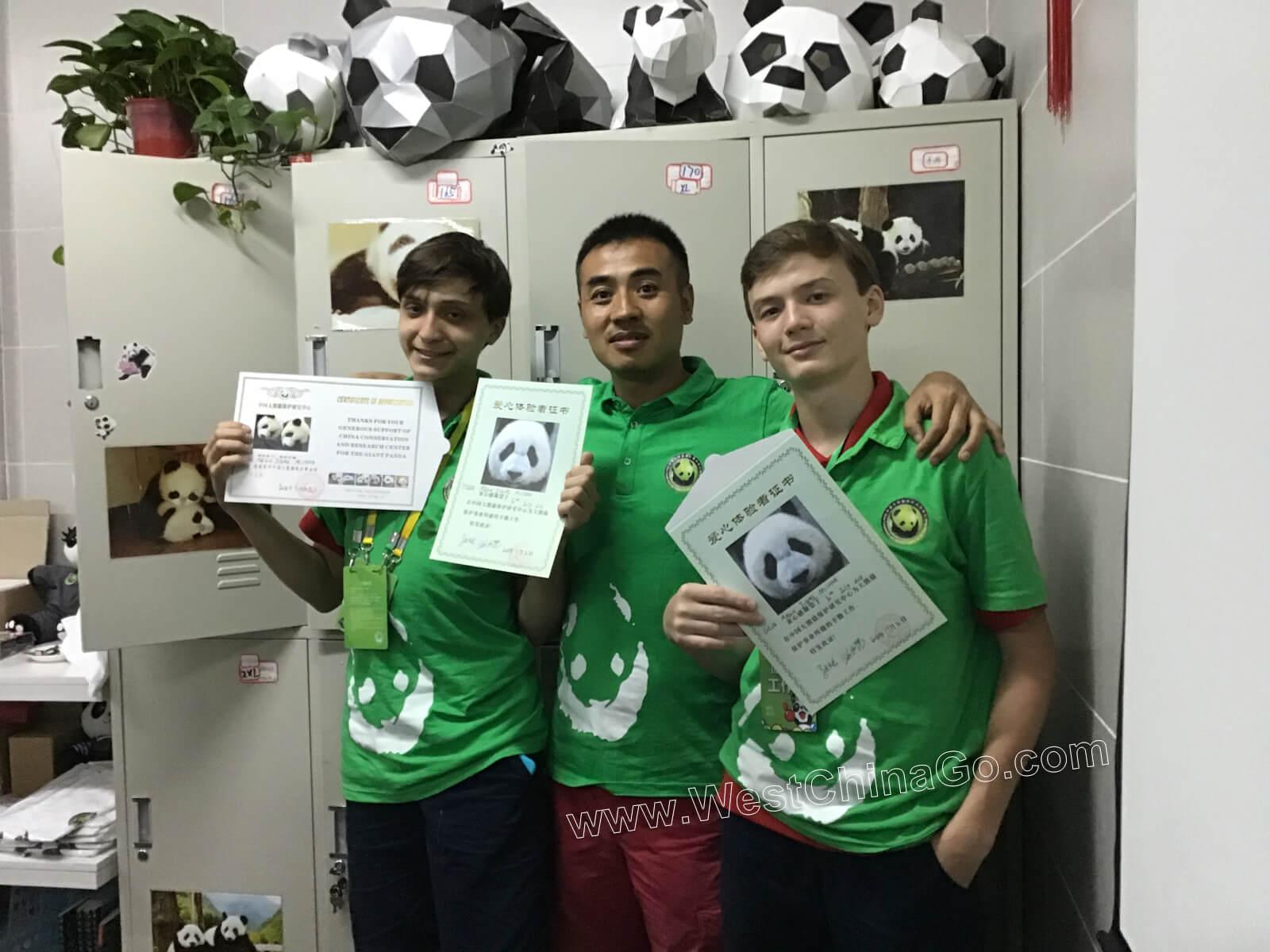 china dujiangyan panda volunteer