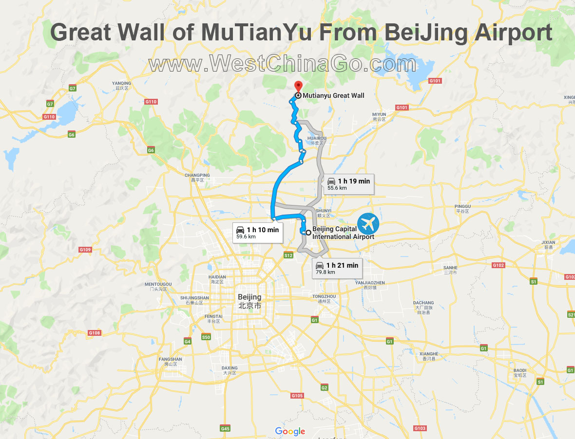 great wall of mutianyu tour from beijing airport