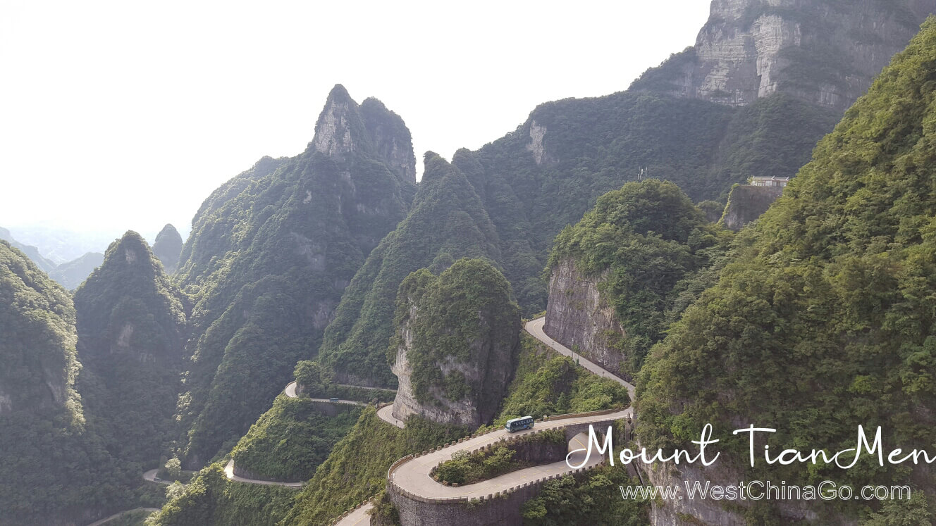 Mount TianMenshan 99 bends road
