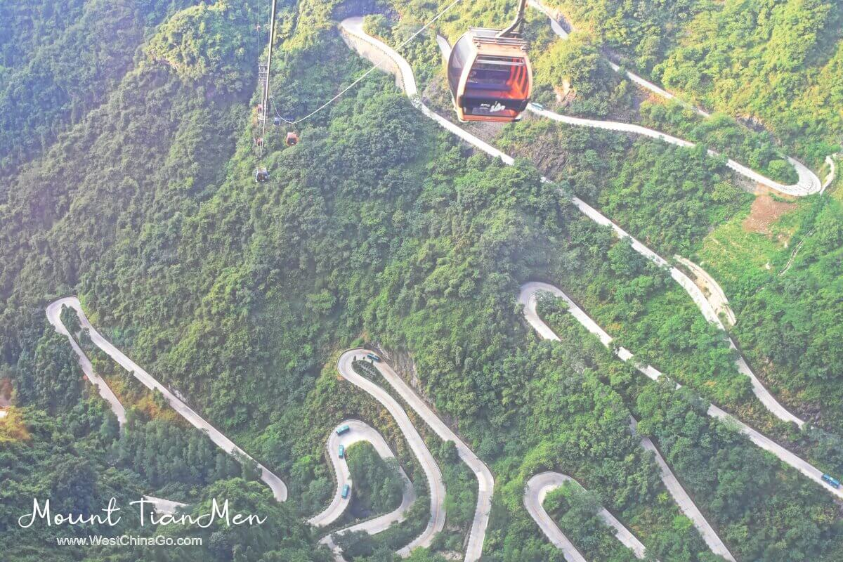 Mount TianMen cable car
