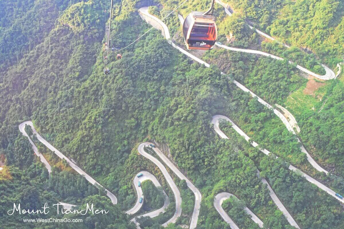 Mount TianMen cable car