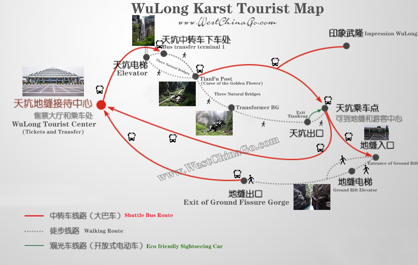 wulong Karst Tourist Map