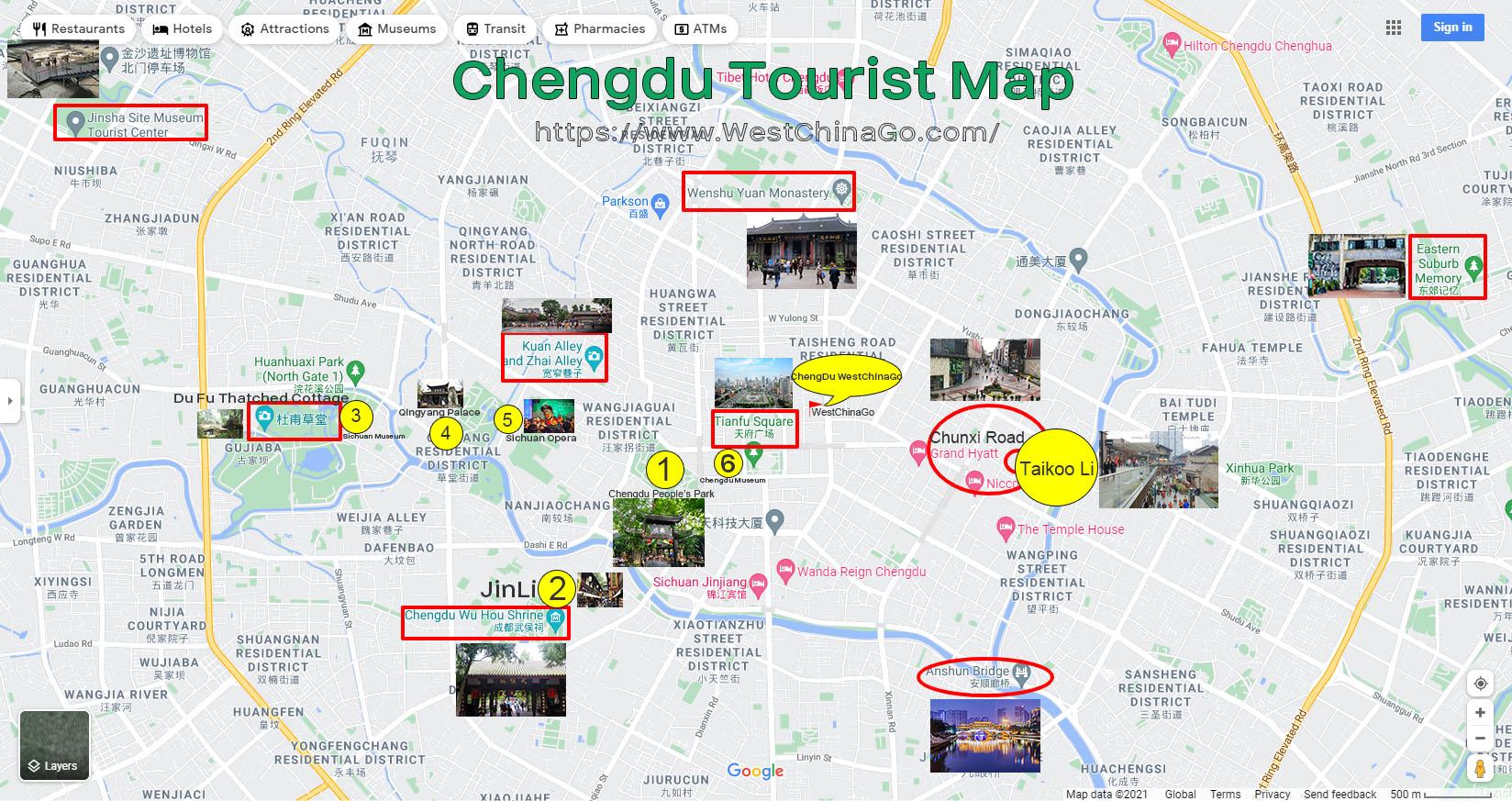 ChengDu tourist map